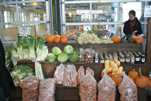 Farm Stand at the Marché du Vieux Port in Quebec City