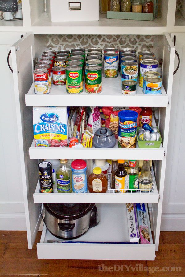 Pantry ideas to help you organize your kitchen custom diy pantry with pull out storage solutioingenieria Choice Image