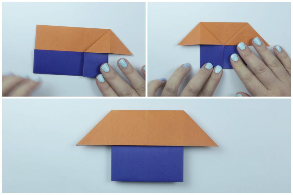 Easy Origami House Instructions - Step 4