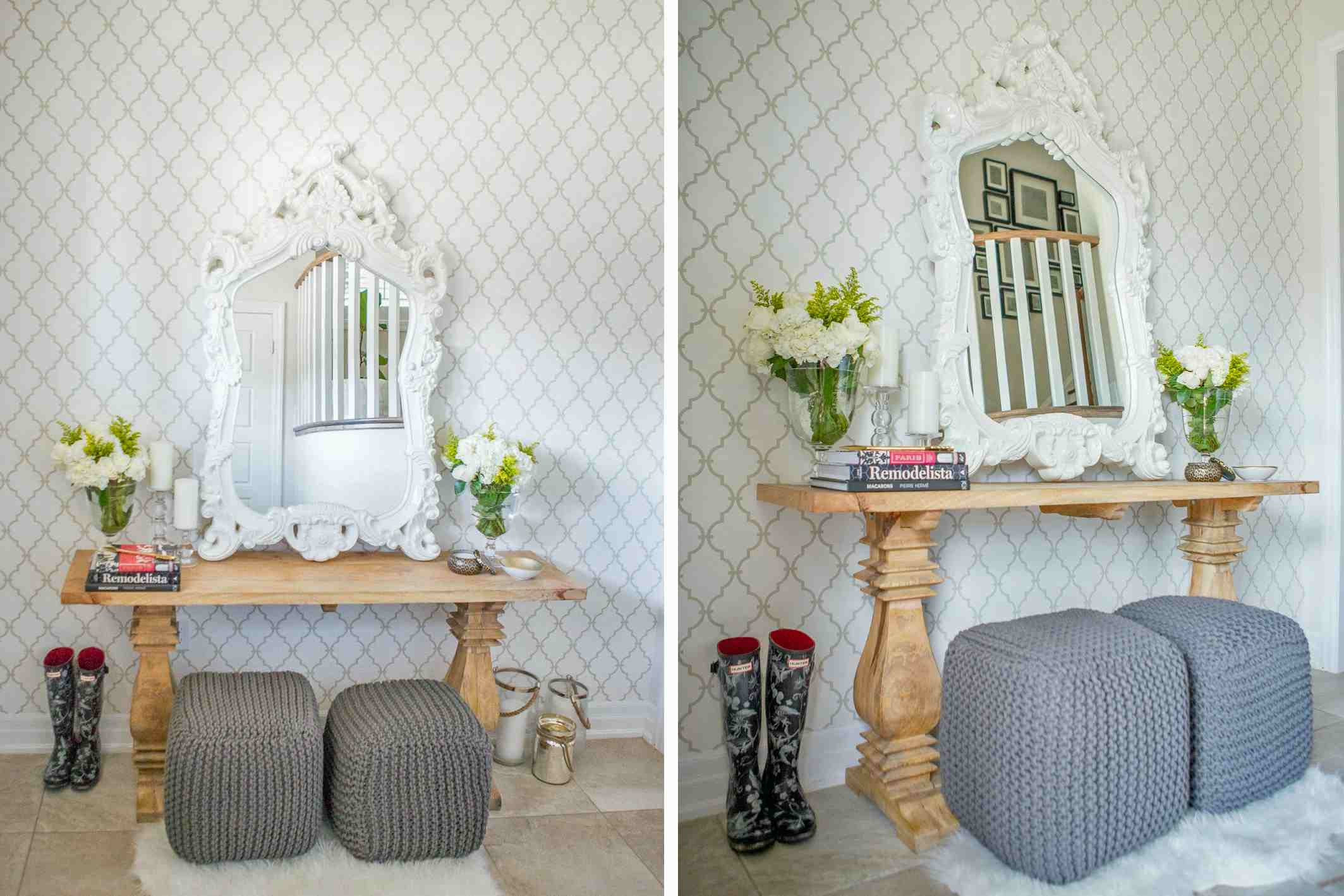 Entry Foyer Wallpaper : Looks to make your small entryway stylish