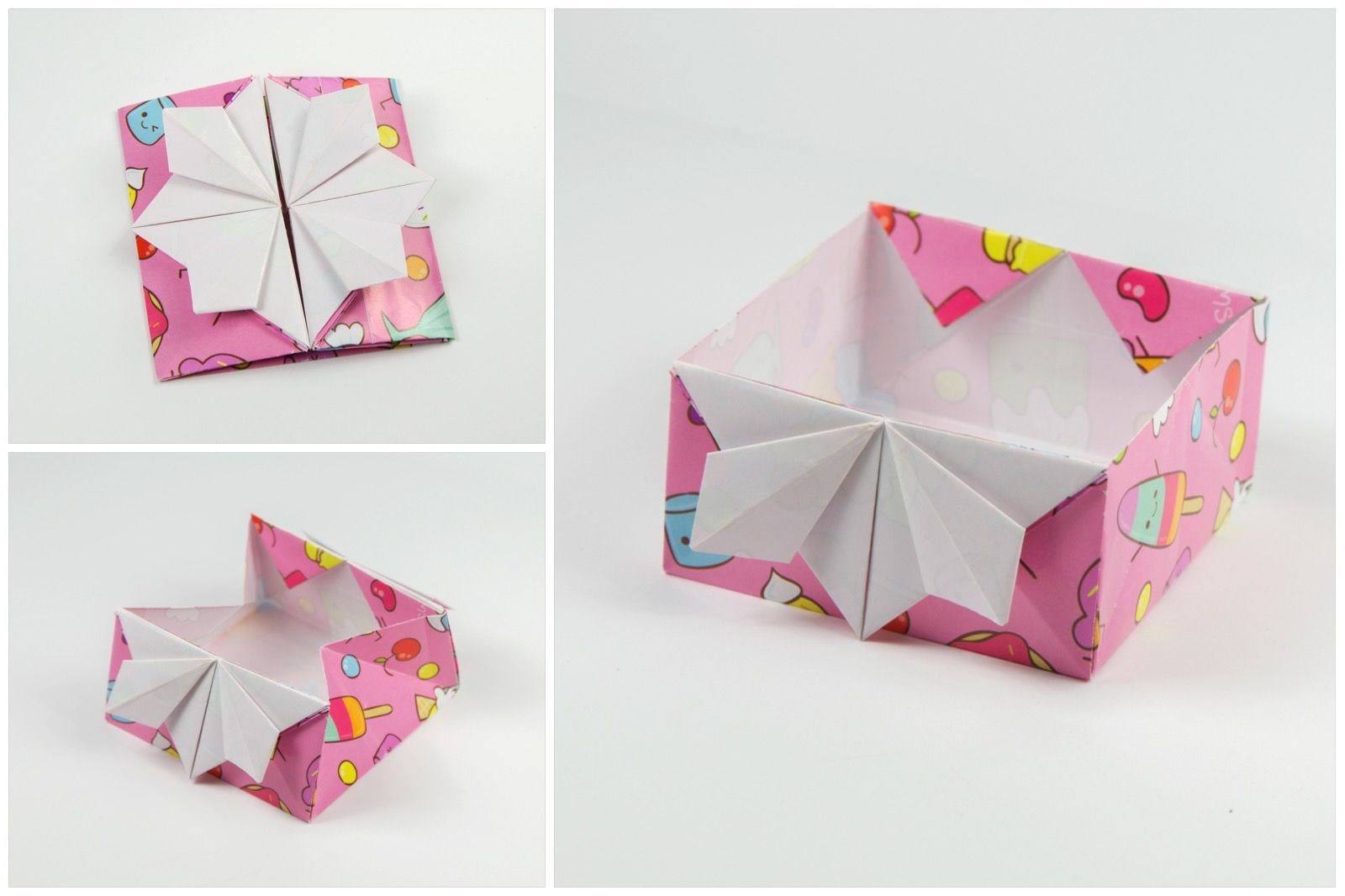 Origami cake box tutorial how to make a japanese origami invitation box jeuxipadfo Choice Image