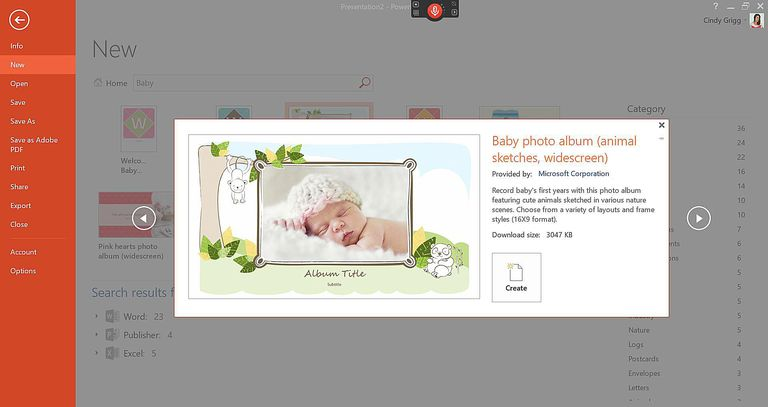 microsoft's best baby templates and printables, Modern powerpoint