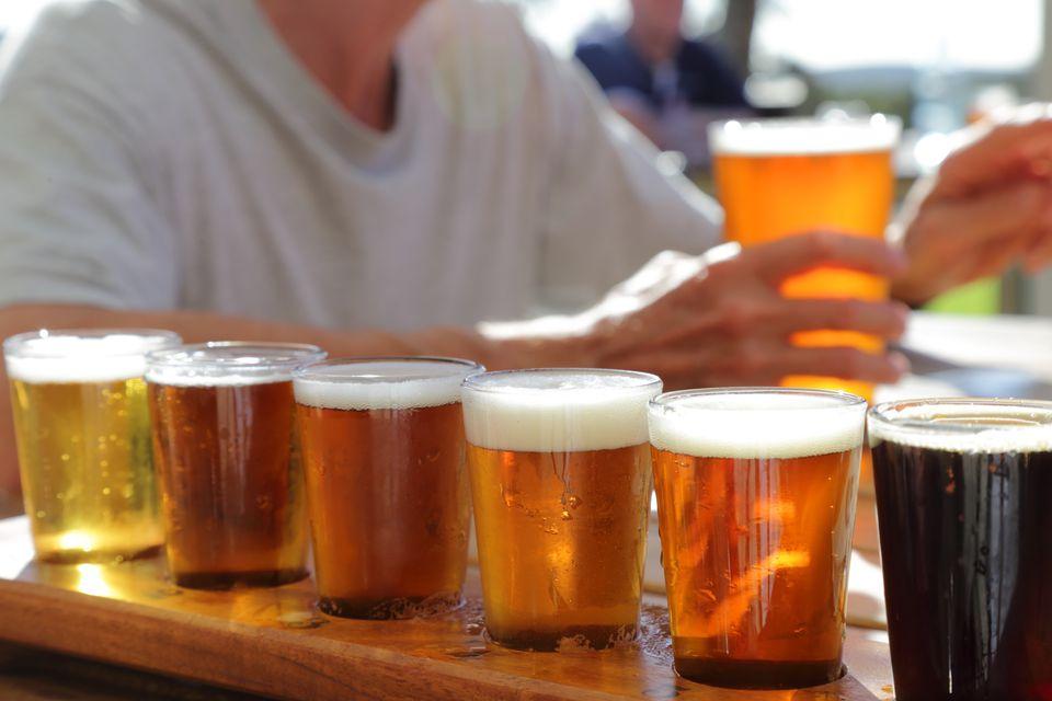 lots of pints of beers