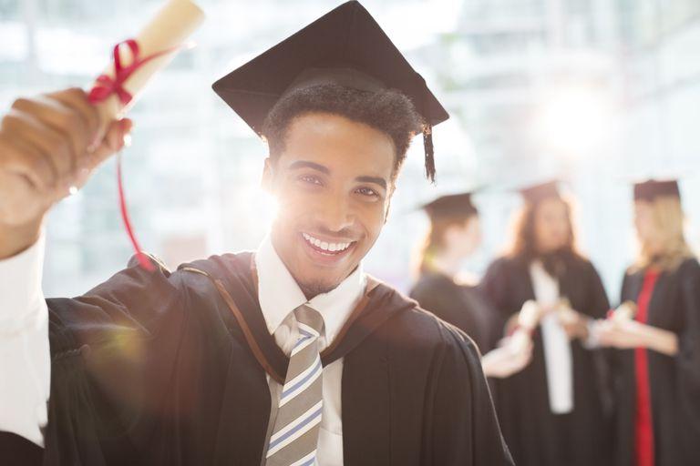 College Graduate Celebrating