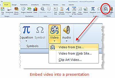 how to pay a youtube video from microsoft powerpoint