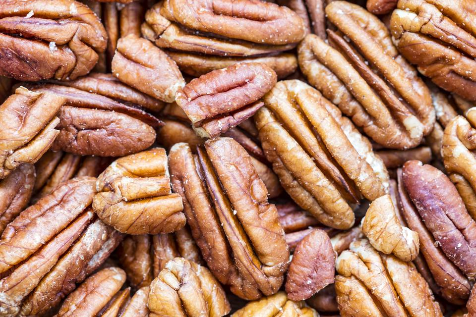 Pecan nuts, full frame