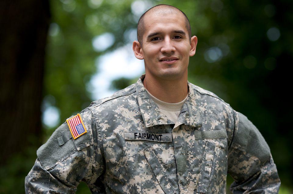 Portrait of Soldier in Uniform