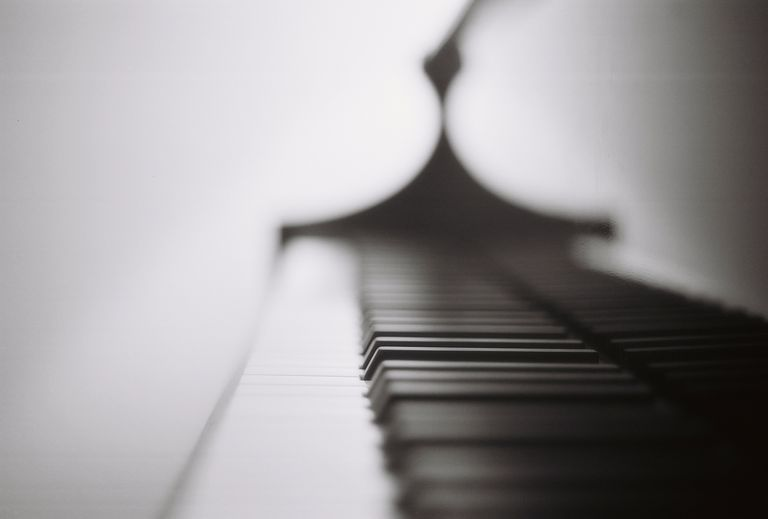 UK, Close-up of a piano key,abstract