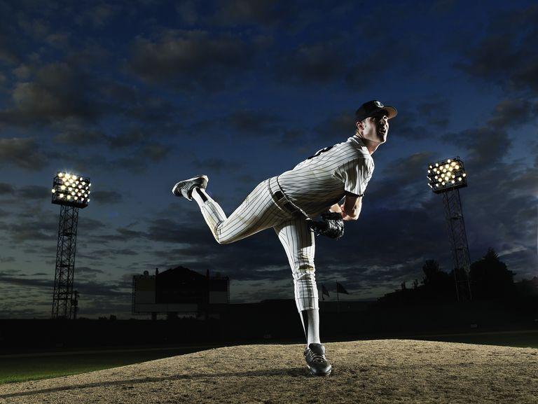 Photo of a baseball pitcher.