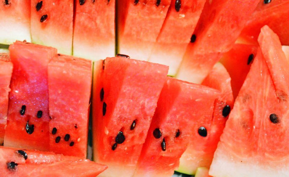 Full Frame Shot Of Watermelon Slices