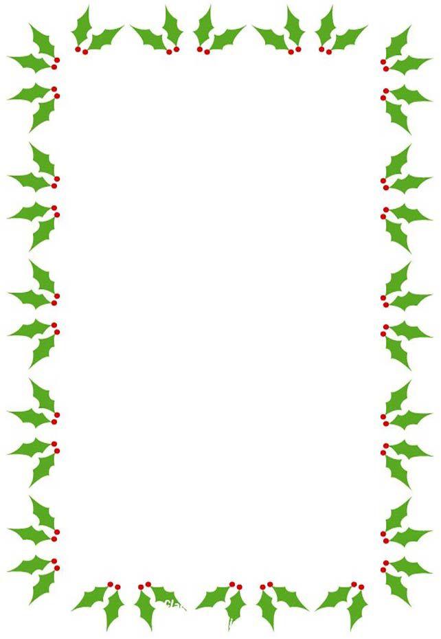 holly border clip art free  487 Free Christmas Borders and Frames
