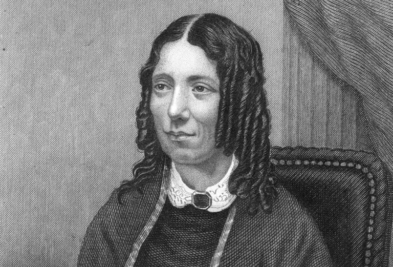 Engraved portrait of author Harriet Beecher Stowe