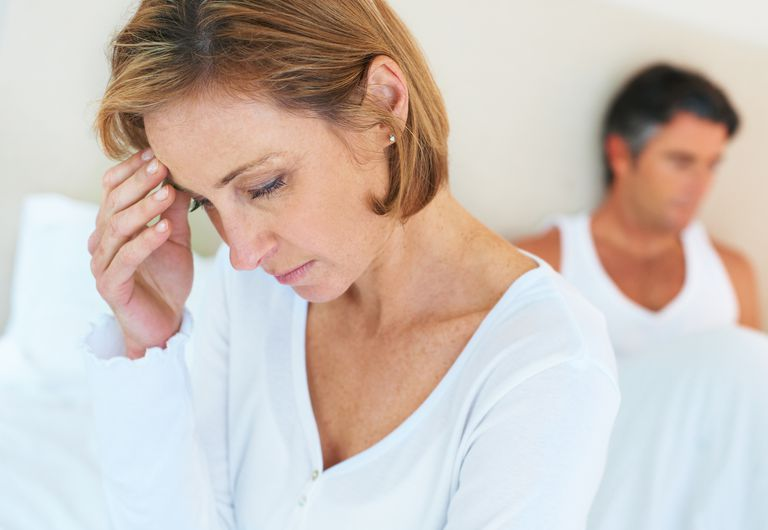 Sexual dysfunction affects married couple with health problems.