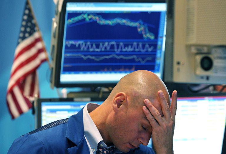 stock trader facing a market correction
