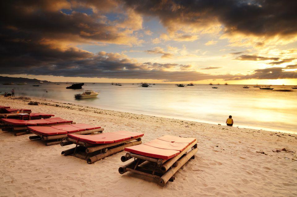sunrise in boracay, philippines
