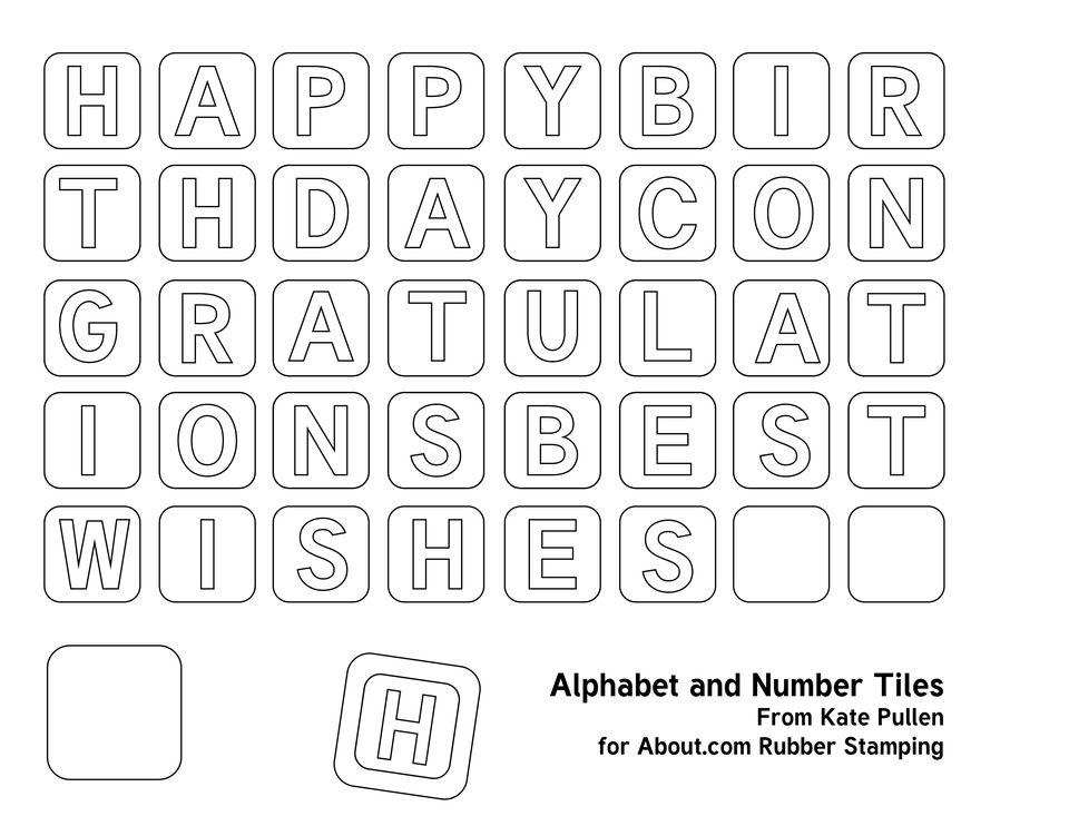 Alphabet Tiles - Words