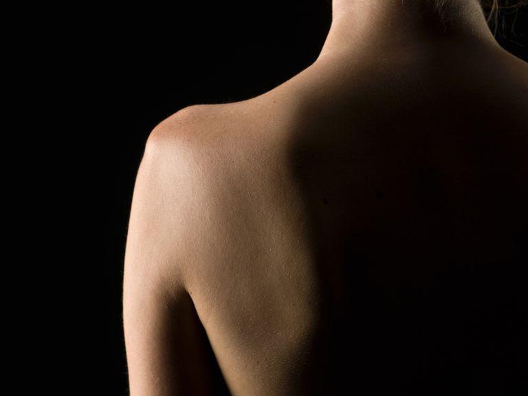 caucasian woman shoulder