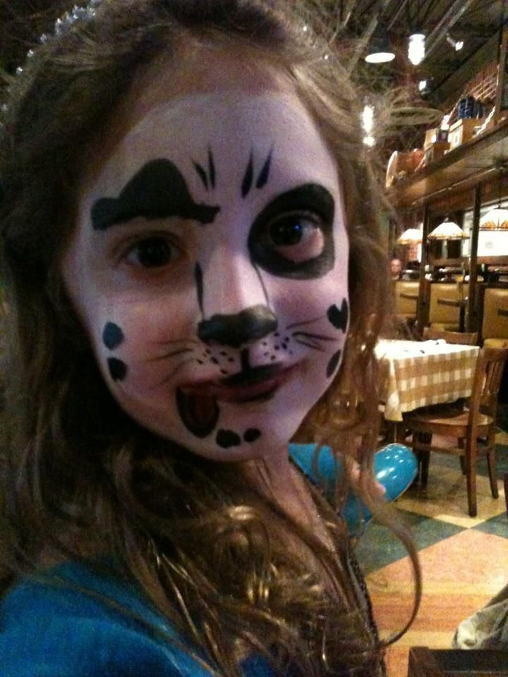 Puppy face painting