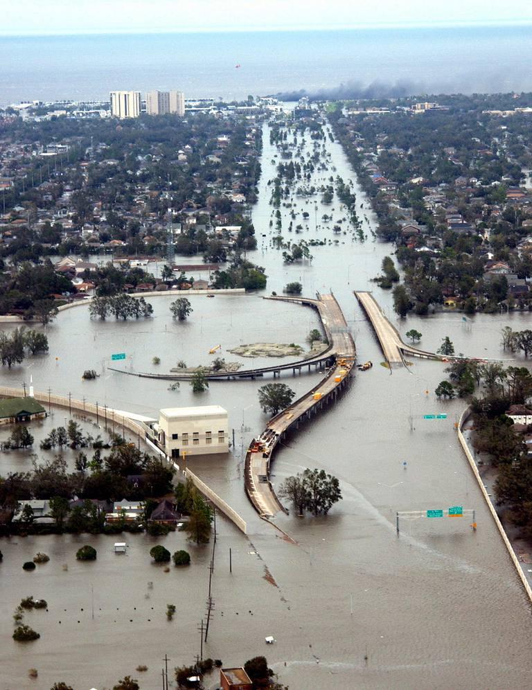 Hurricane Katrina's Devastation Apparent