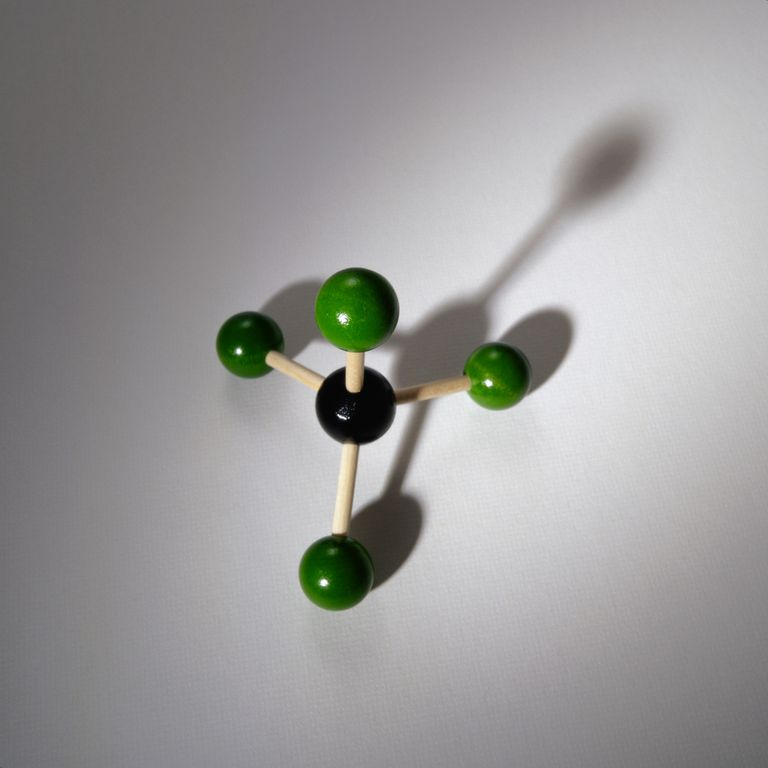 This is the chemical structure of carbon tetrachloride.