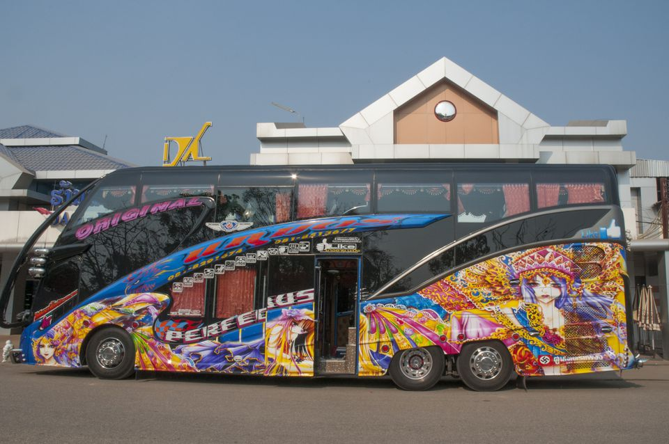 Tourist bus in Thailand
