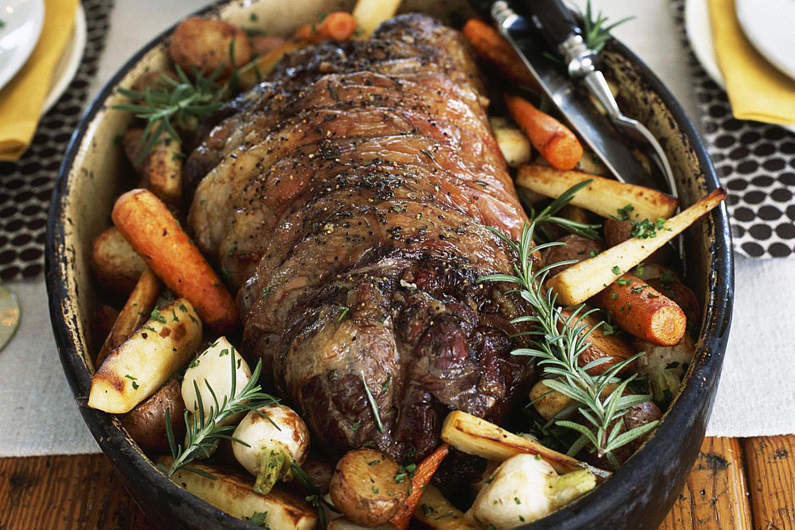 Marinated Rotisserie Roast Beef Recipe