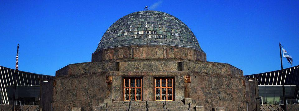 Chicago's Adler Planetarium at Night