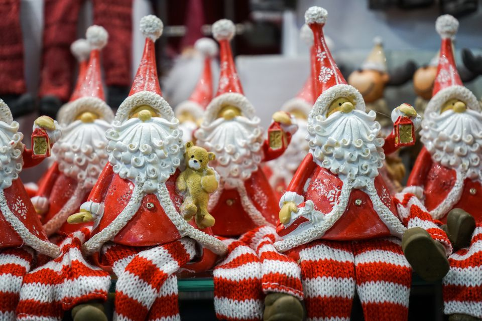 Santa Claus Figurine For Sale At Market Stall