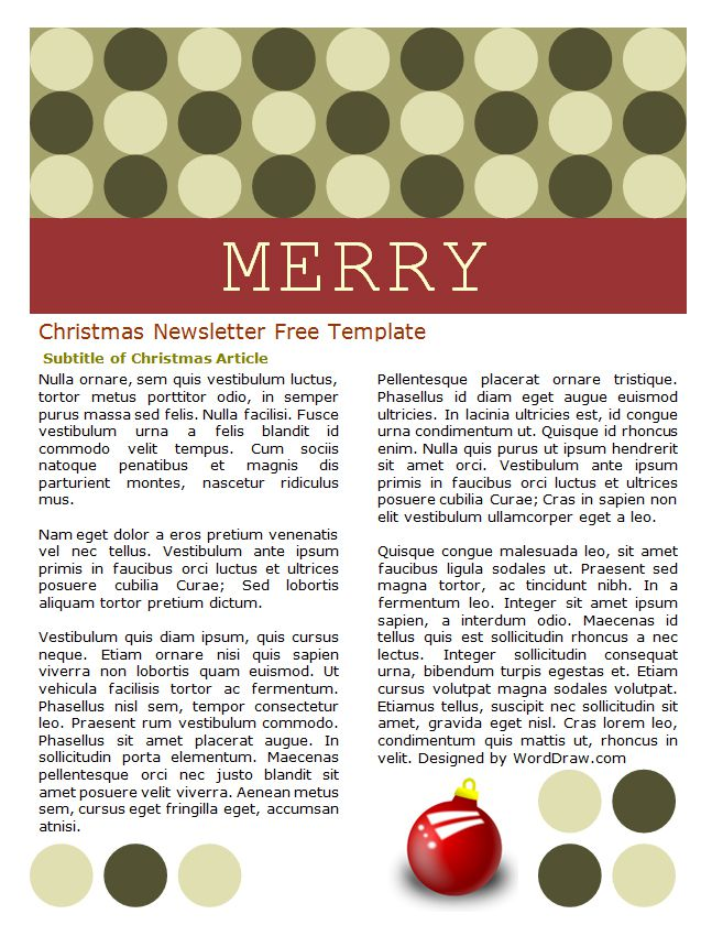 49 Free Christmas Letter Templates That Youll Love