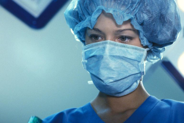 Anesthetist in an operating room