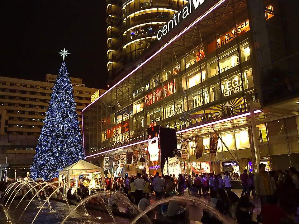A Christmas Tree at Bangkok's CentralWorld mall.