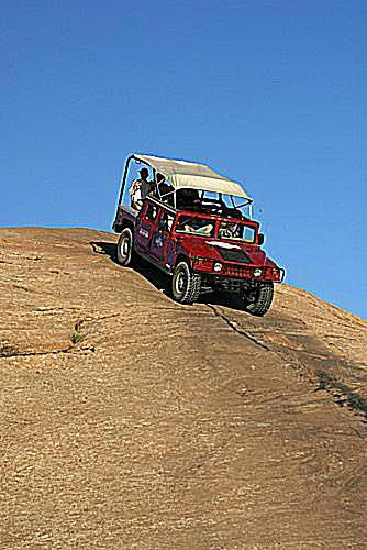 Hummer tour on the slickrock in Moab, Utah
