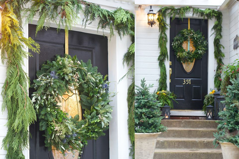 Gorgeous natural christmas porch living wreath