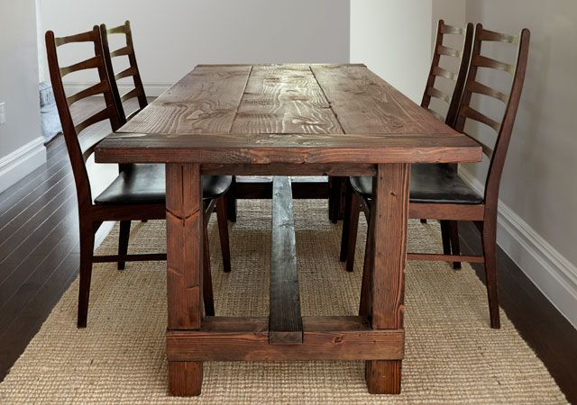 12 free diy woodworking plans for a farmhouse table for Farmhouse table plans with x legs