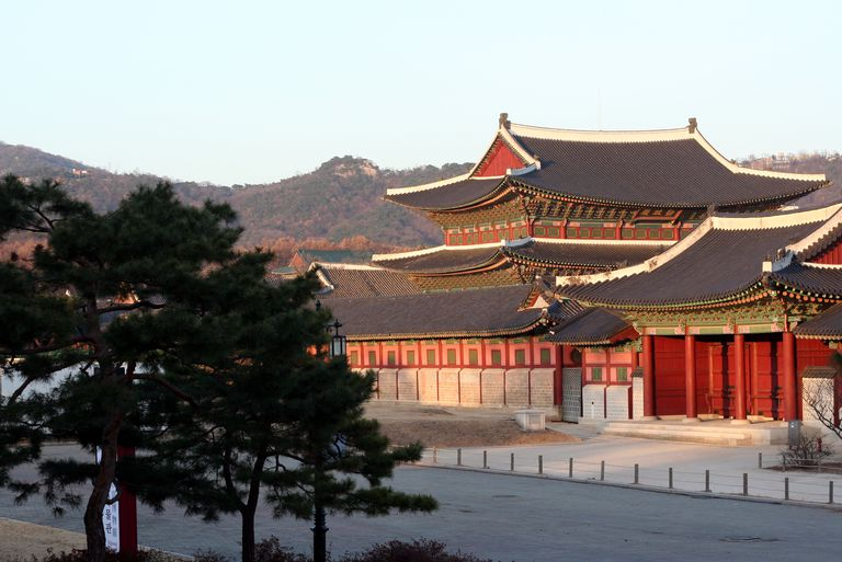 Reconstructed Joseon Dynasty Gyeonbok Palace in Old Seoul