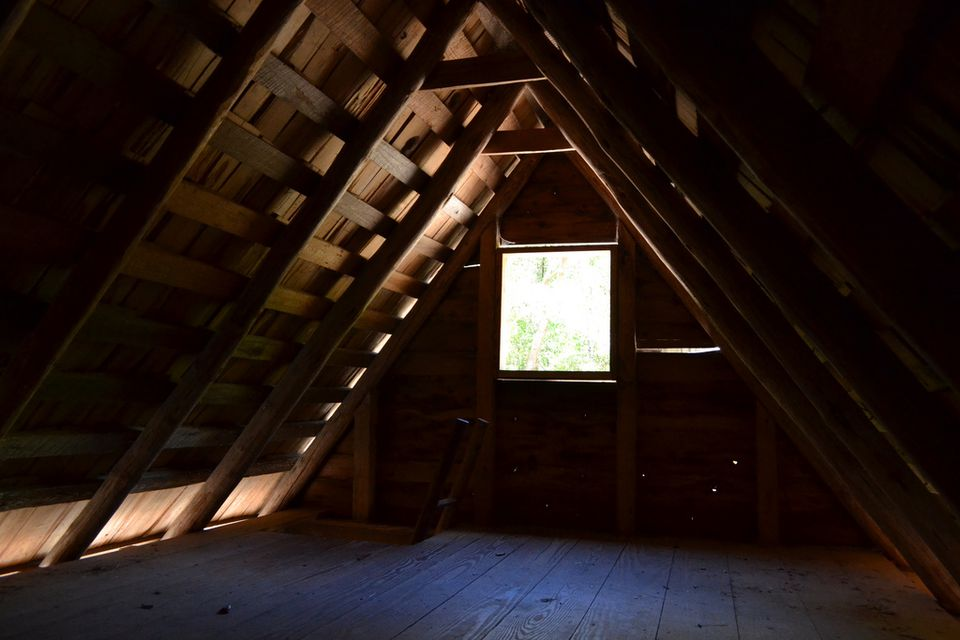 An unfinished attic