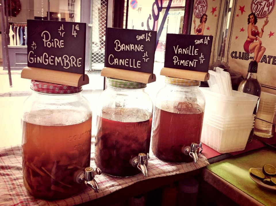 Creative punches at the Le Petit Village bar.