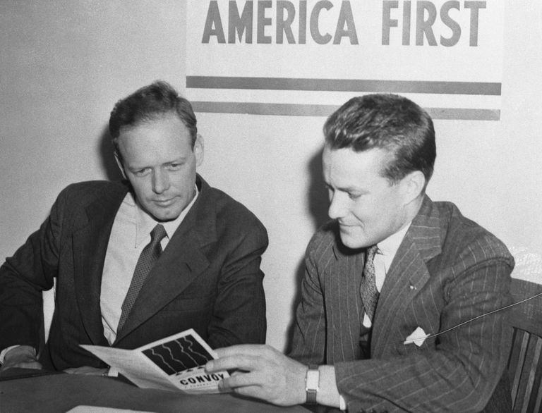 Charles Lindbergh joining the America First Committee in 1940