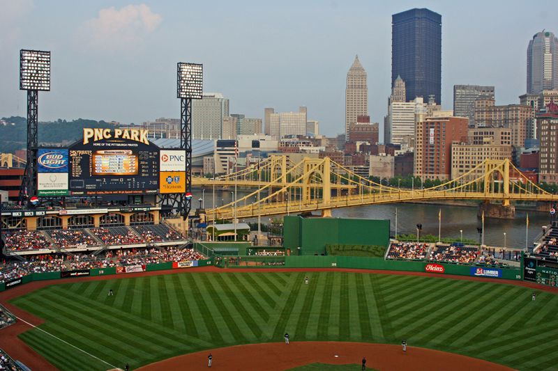 PNC Park Provides Dramatic Sweeping Views Of Downtown Pittsburgh And The Allegheny River
