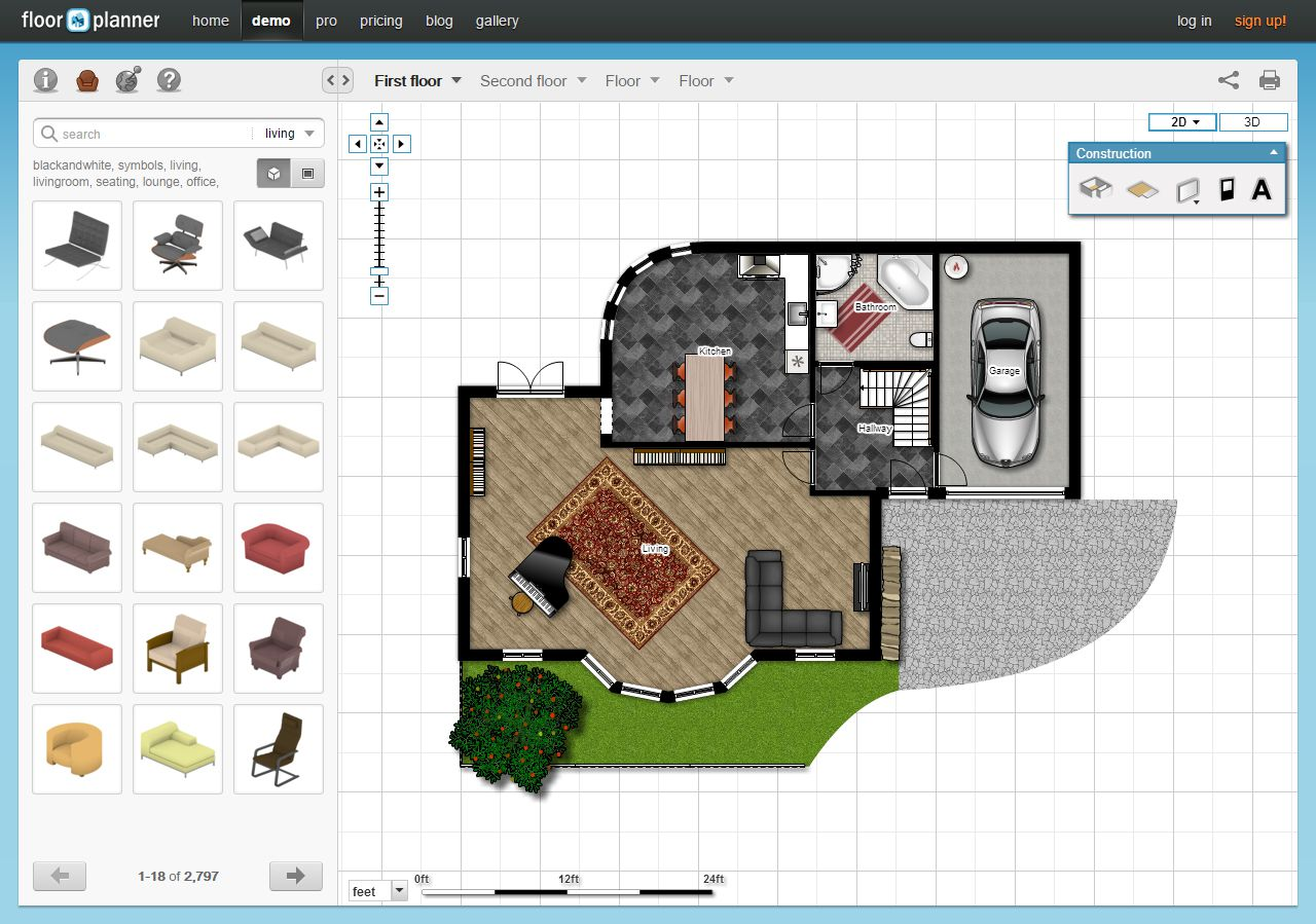 5 free online room design applications - Room layout planner free ...
