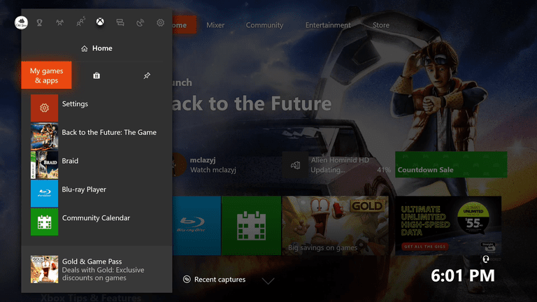 xbox one my games and apps