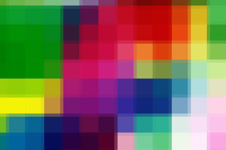 Pixelated view of colorful shapes