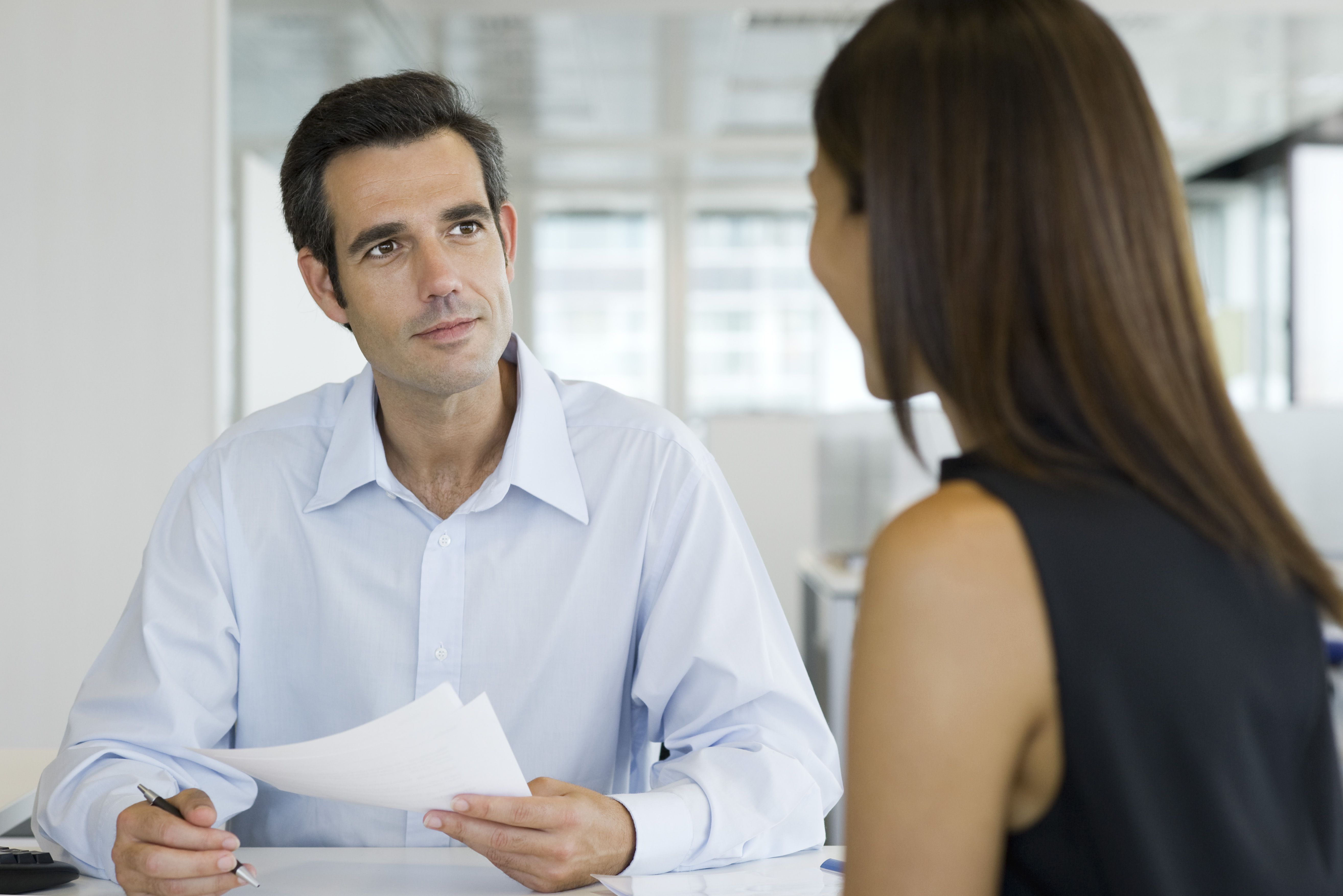 interview with businessman