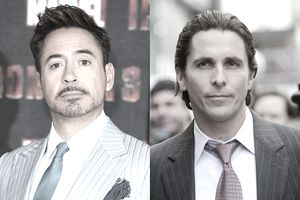 Robert Downey Jr. and Christian Bale