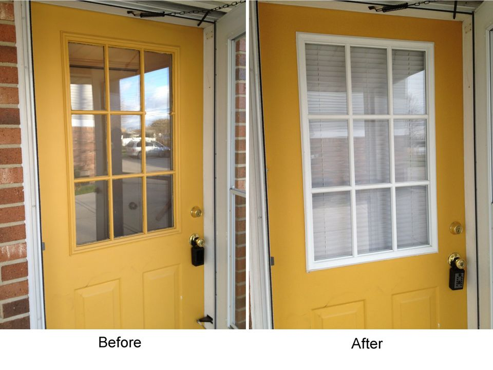 How to replace a glass frame in an exterior door - How to replace door frame exterior ...