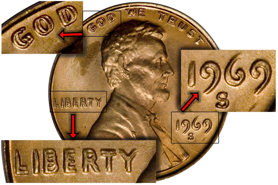 1969-S Doubled Die Lincoln Penny