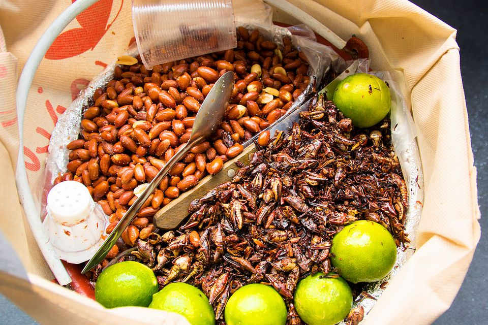 Chapulines and peanuts