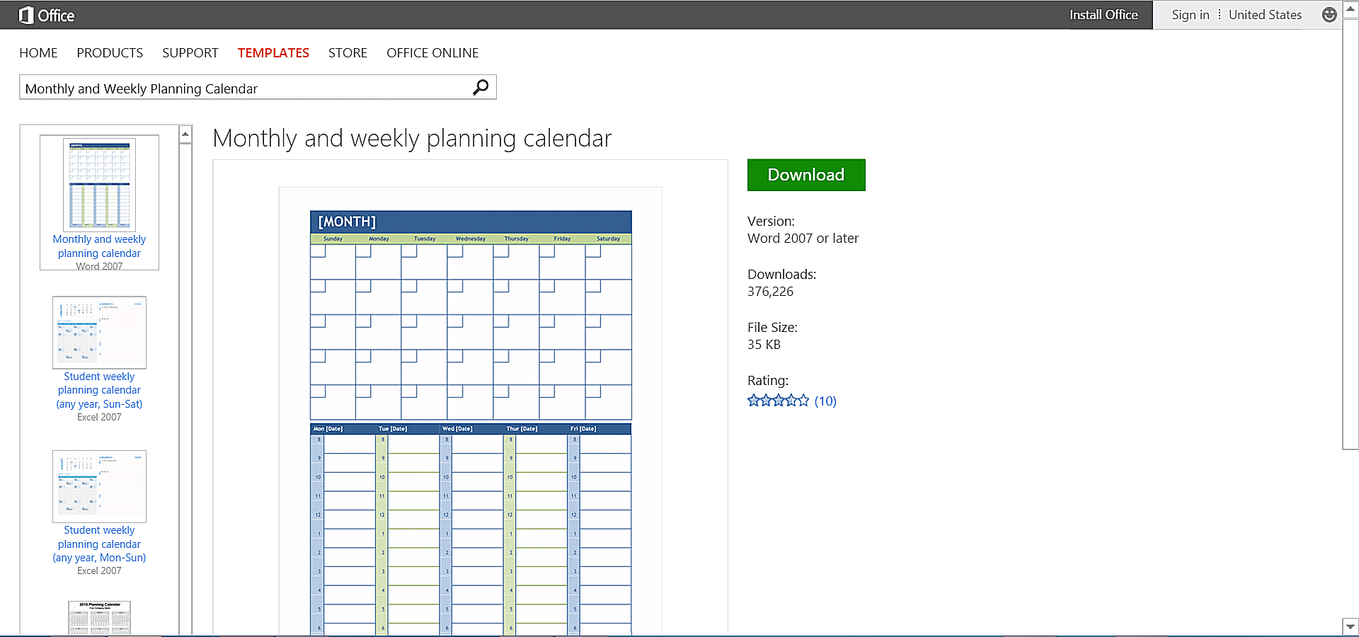 Customizable calendar templates for microsoft office for Office planner
