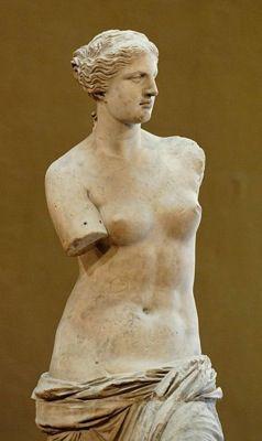 Venus de Milo en el Louvre.