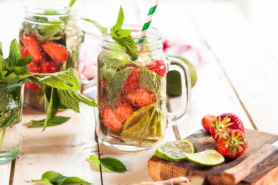 Strawberry Lime Mint Drink